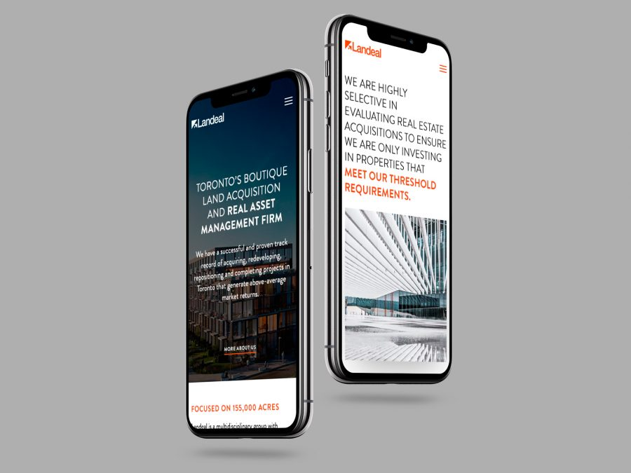 Landeal Group Mobile Design